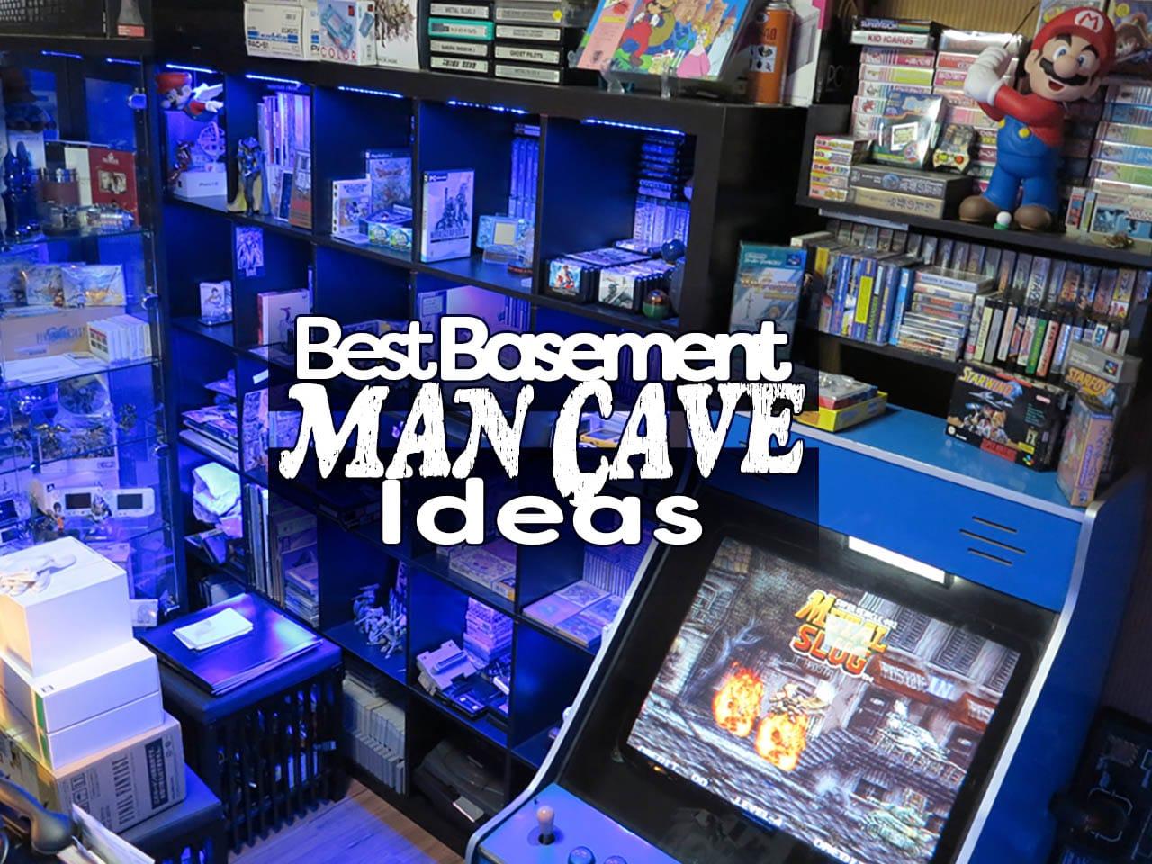 best basement man cave ideas feature