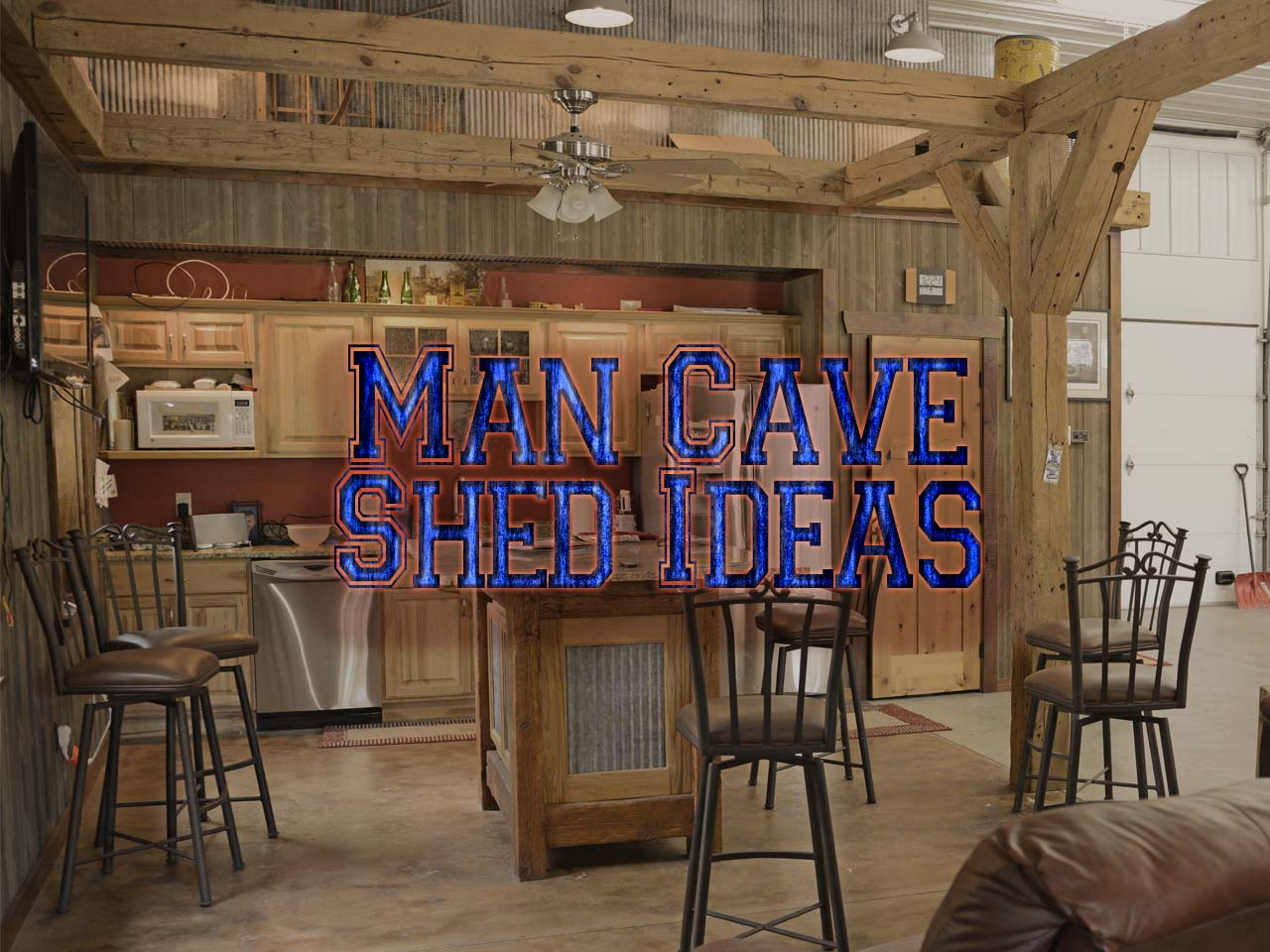 man cave shed ideas